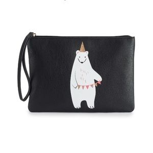 NWT LAUREN CONRAD BEAR CLUTCH